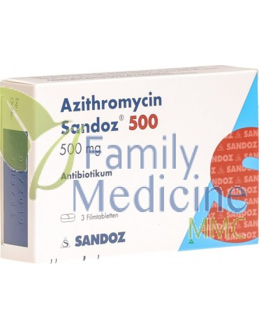 Azithromycin (Generic Zithromax) 500mg