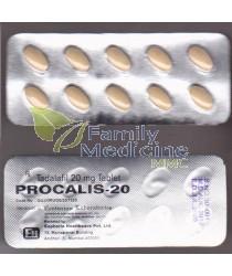 Procalis (Generic Cialis) 20mg